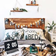 It is created to look like a white wall and it's a different color than the rest of the minimalist bedroom. It's pretty unique and does a good job of breaking up all of that white.