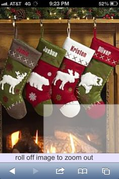 Personal Creations #Gifts  #Personalizedgifts Stockings from personalcreations.com - Great Personalized Gifts via- http://www.AmericasMall.com/personalcreations-gifts