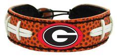Georgia Bulldogs Power G Classic Football Bracelet
