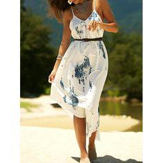 Stylish Women's Printed Asymmetric Cami Dress #women, #men, #hats, #watches, #belts