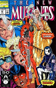The New Mutants #98 - the 1st appearance of Deadpool, Domino, and Gideon.  Art by Rob Leifeld.
