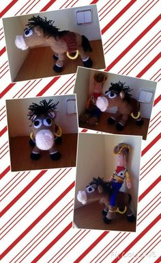 Perdigón de Toy Story de amigurumi.