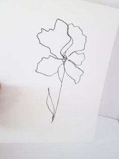 ORIGINAL Abstract Minimalist Drawing ORIGINAL Botanical by ARTseas