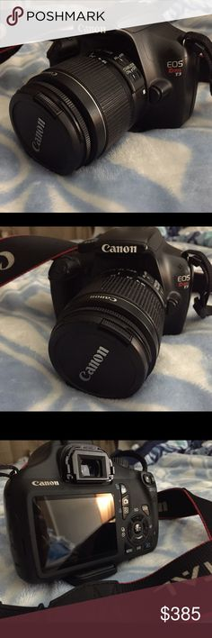 Canon T3 Used but in great and awesome condition. Nothin wrong never dropped no ding or any imperfection. Just going to upgrade my Camera 🎥😘❤️😁 will be shipping this with care ask for more pics if interested please no time waster or low ⛹️♀️ ballers. This listing is for the Lense+body...(charger) is MISSING in Action.. (will look for it and price reflects posh fees and missing charger) 😆 will look use my other camera's charger to charge to show it actually turns on. canon Other