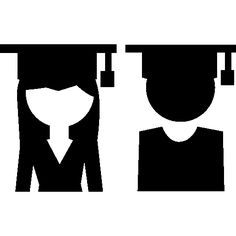 Female and male graduates couple free vector icons designed by Freepik