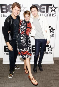 Shailene Woodley, Ansel Elgort & Nat Wolff #TFIOS The Fault In Our Stars