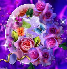 Romancing the Rose...Rose Frame... By Artist -lissy005...@;}~