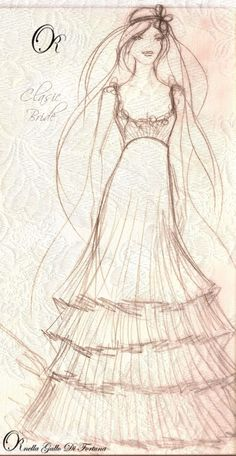 Bocetos de vestidos de novia sencillos