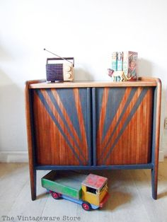 SOLD Storage- Bespoke Design Available Vintage Sideboard Record Cabinet Retro…