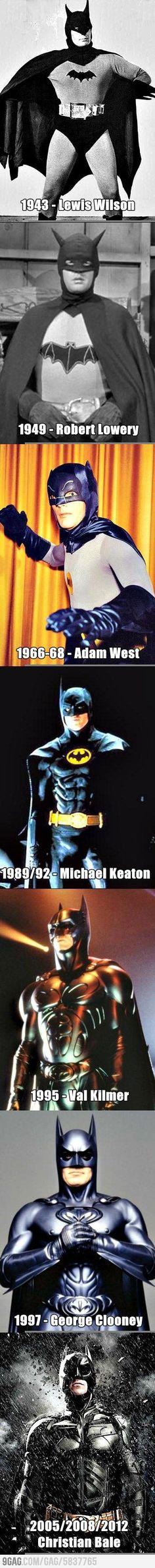 The Evolution of Batman Actors