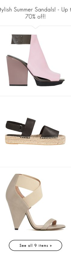 Stylish Summer Sandals! - Up to 70% off! by blueandcream on Polyvore featuring women's fashion, shoes, sandals, heels, boots, zapatos, accessories, women, ankle tie shoes and ankle strap sandals