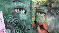 Eye Can see Clearly now - Jane Davenport; face on top of already completed background; video here