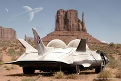 Retro Automotive Illustrations, Fantasy and Surrealistic Car Art