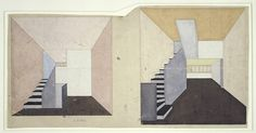 Hinnerk Scheper, colour design for apartment F of the Narkomfin building, Moskau, 1929 / Bauhaus-Archiv Berlin, (c) estate Scheper