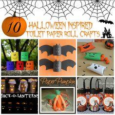 10 #Halloween Toilet Paper Roll Crafts #crafts #DIY