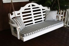 A & L Furniture Marlboro Yellow Pine 5ft Porch Swing