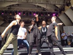 Artem, Henry, Tristan & Sasha rehearsing with Gladys Knight at Hollywood Bowl 8-9 Aug 2014 (pic credit: @JayDSchwartz via Twitter)