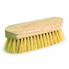"""7 1/2 inch Synthetic Rice Root, Wash Brush by Kelley. $6.95. Synthetic Rice Wash Brush - Pony Express Dandy Style Brushes have beautiful, 7 1/2"""" polished hardwood handles with a mix of natural and synthetic fibers."""