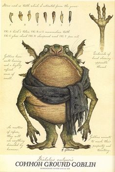 & Ground Goblin& from & Spiderwick& Field Guide to the Fantastical World Around You& illustration by Tony DiTerlizzi. Mythical Creatures Art, Mythological Creatures, Magical Creatures, Fantasy Creatures, Art Sketches, Art Drawings, Wolf Drawings, Spiderwick, Harry Potter Poster