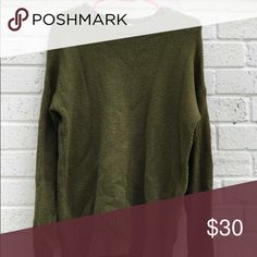 green sweater from urban outfitters good condition, barely worn! BDG Sweaters Crew & Scoop Necks