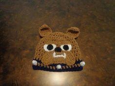 Crochet Bulldog Hat by CrochetByJessyFigz on Etsy, $22.00