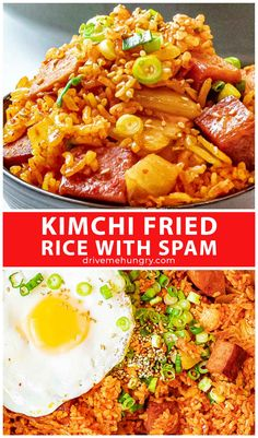 Easy Asian Recipes, Vegan Recipes Easy, Ethnic Recipes, Spam Recipes, Korean Recipes, Rice Recipes, Summer Recipes, Rice Dishes, Food Dishes
