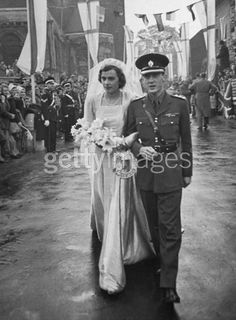 The Mountbatten tiara worn by Patricia, 2nd Countess Mountbatten of Burma, daughter of Edwina and Louis when she married John Ulick Knatchbull, 7th Baron Brabourne, on 26th October 1946, at Romsey Abbey, Hampshire.