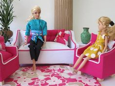 White Barbie Sofa by ThePetiteSuite on Etsy