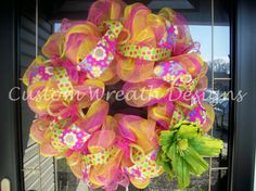 Summer Fun Mesh Wreath with Flower