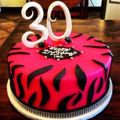 Zebra print for the 30th birthday girl