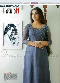 Churidar Designs, Kurti Neck Designs, Dress Neck Designs, Blouse Designs, Kerala Engagement Dress, Salwar Pattern, Kurti Embroidery Design, Party Wear Lehenga, Anarkali Dress
