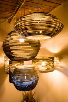 7 lamp z kartonu – sesja zdjęciowa / 7 cardboard lamps – photos, design, home, Cardboard furniture, meble z tektury, eko, ekologiczne, diy, zrób to sam