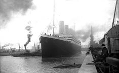 The cruise liner Titanic sets off from Southampton docks on 10 April 1912.