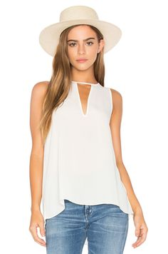 Three Eighty Two Brie Tank in Ivory