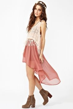 So Low Skirt by Nasty Gal  This look sorta reminds me of a hippy princess. I love the coloring too.