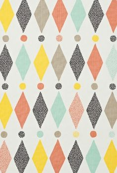 print & pattern Camilla Lundsten of Littlephant. Motifs Textiles, Textile Patterns, Pretty Patterns, Color Patterns, Abstract Pattern, Pattern Art, Retro Pattern, Paper Scrapbook, Pattern Illustration