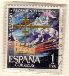 postage stamps from spain | Amazon.com: Postage Stamps Spain. One Single 1p Multicolored Alcazar ..