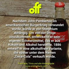 76 Fakten über Essen Mountain Dew, Bourbon, Pizza Hawaii, Coca Cola, Food Facts, Fun, Facts Of Life, International Space Station, Unbelievable Facts