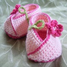 Kimono Flower Crocheted Baby Shoes - Holland Designs - new zealand  crochet