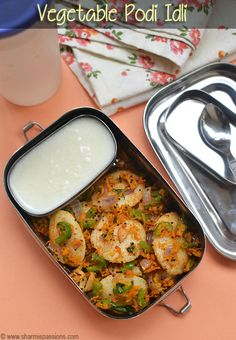 Lunch Box Recipes for Kids - Kids Lunch Box Recipe Ideas - Sharmis Passions Healthy Indian Recipes, Vegetarian Recipes, Vegetarian Lunch Boxes, Kids Cooking Recipes, Kids Meals, Kid Recipes, Tiffin Recipe, Idli Recipe, Lunch Box Recipes