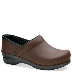 Dansko Narrow Pro Oiled Leather Antique Brown - HappyFeet.com