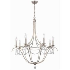 Crystorama Lighting 428 Metro II - Eight Light Chandelier