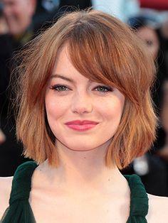 emma stone short bob haircut