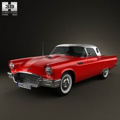 ford thunderbird 1957 | Ford Thunderbird 1957 3D Model download in .3ds .max .obj .c4d ...