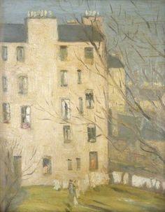 JOHN DUNCAN FERGUSSON  Tenements, Edinburgh (c.1900)