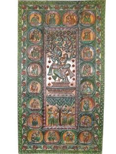 Colorful Indian Inspired Wooden Panels Radha Krishna Hand Carved Door Panels 84x40 by Mogulinterior, http://www.amazon.com/dp/B00BLZGUSE/ref=cm_sw_r_pi_dp_Wqmmrb05X5TZW