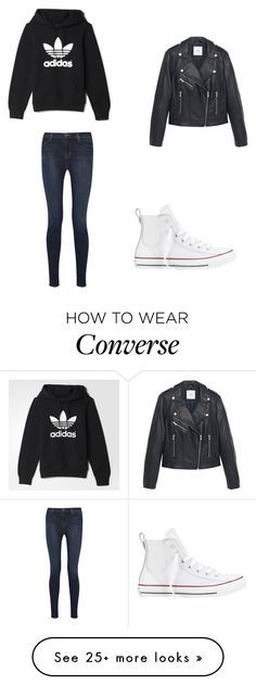"""""""Untitled #8907"""" by andreeascafariu on Polyvore featuring J Brand, adidas, Converse and MANGO"""