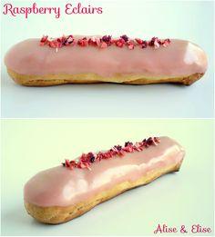 #Delicious #raspberry  #eclairs