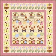 Easter Row x Row Quilt