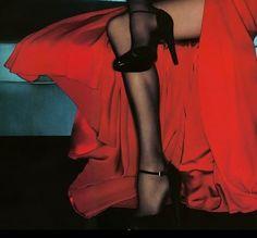 "sommewhere: ""Gemma Ward for Valentino 2006 ad campaign details "" Guy Bourdin, Gemma Ward, Edward Weston, Glamour, Red Aesthetic, Camilla, Ideias Fashion, Kawaii, Portrait"